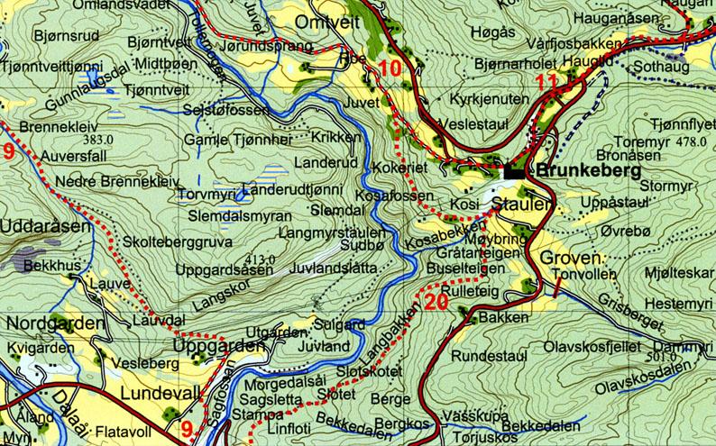 kviteseid kart Kulturminnevegen « Kviteseid historielag kviteseid kart
