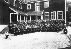 Område 1635 HV samla ved Utsund i mai 1945
