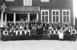 Folkehøgskulen Utsund elevar 1916 17 - #KvH 124 b