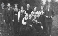 Folkehøgskulen Utsund elevbilete 1916 17 - #KvH 125 b